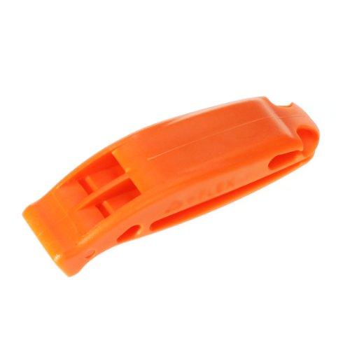 Sifflet d'Urgence Sifflet de Sécurité de Double Fréquence pour Survie en Plein Air - Orange Vif