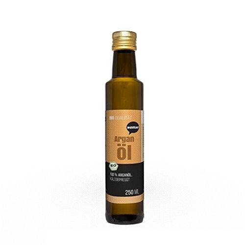 Wohltuer Bio Arganöl 250ml - Nativ gepresst und 100% rein - Natur pur (250ml) | Hautpflegeöl | Haaröl | 100% Naturkosmetik