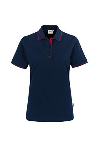 HAKRO Damen Polo-Shirt Casual - 203 - tinte/rot - Größe: L