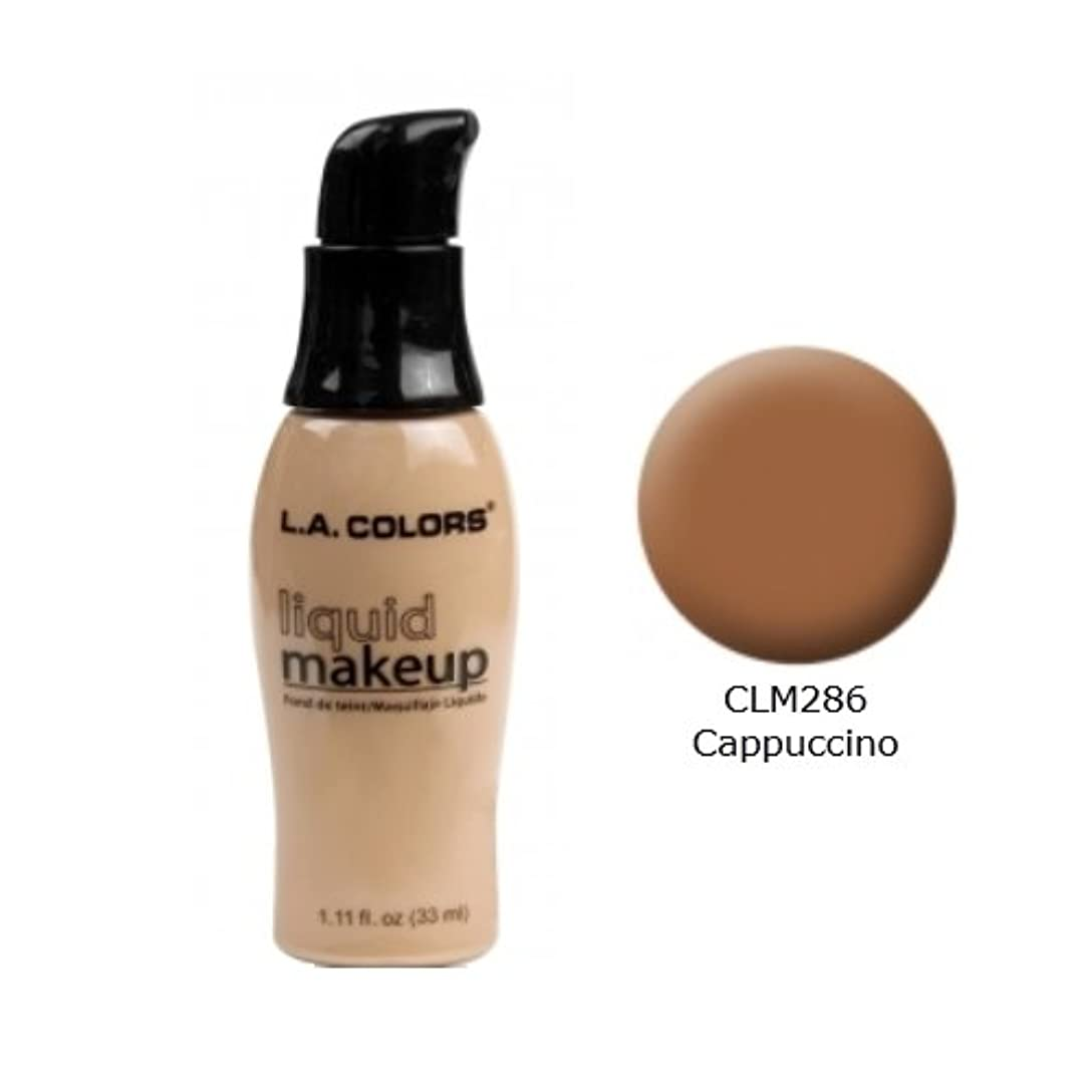 道徳代表団狂気(3 Pack) LA COLORS Liquid Makeup - Cappuccino (並行輸入品)