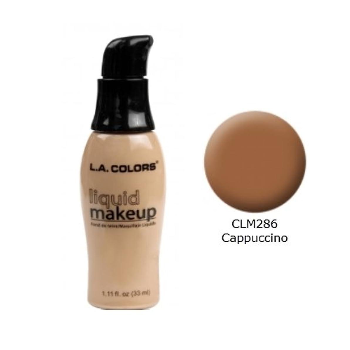 抑圧バッグ長くする(6 Pack) LA COLORS Liquid Makeup - Cappuccino (並行輸入品)