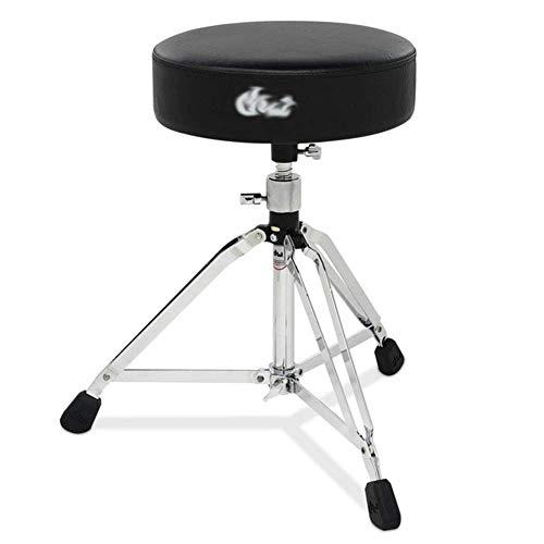 QQXX Bar Chair Regolazione pneumatica Jazz Shelf Drum Stool Black 52-70cm (Colore: Saddle Drum Stool, Dimensioni: 52-70cm)