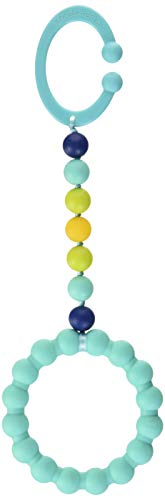Chewbeads - Gramercy Baby Teething Car Seat Toy and Stroller Toy (Turquoise). 100% Safe Silicone Infant Teething Toy for Car Seats and Strollers. BPA-Free