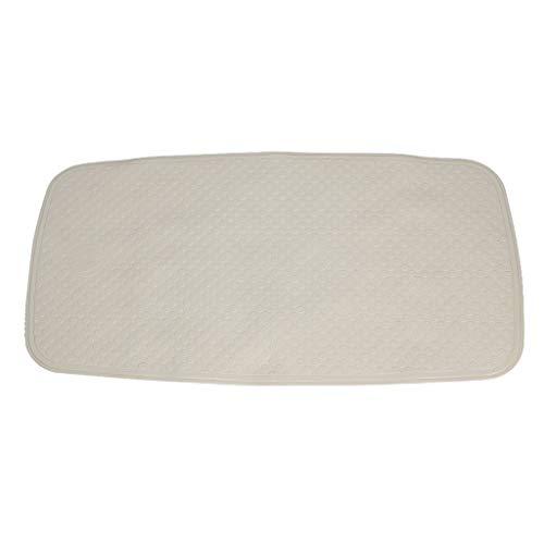 Tapis de bain-lyj- Tapis de sol en caoutchouc Tapis de bain gris blanc jaune 72x38cm -LUOYJ (Color : Gray, Size : 72x38cm)