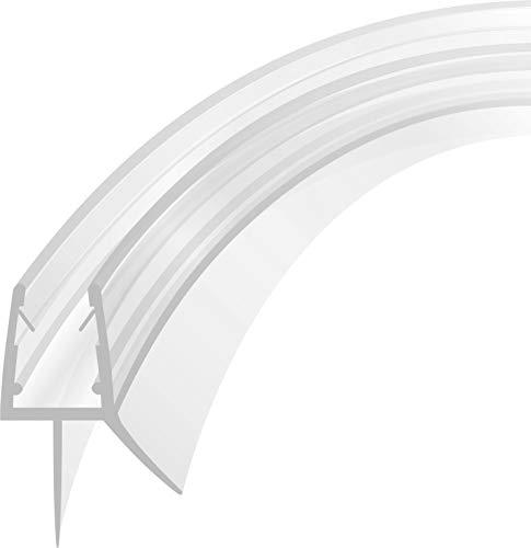 Duschdichtung Runddusche Schwallschutz Streifdichtung Wasserabweiser Ersatzsdichtung Viertelkreis gebogen 2 m für 4-8mm Glas