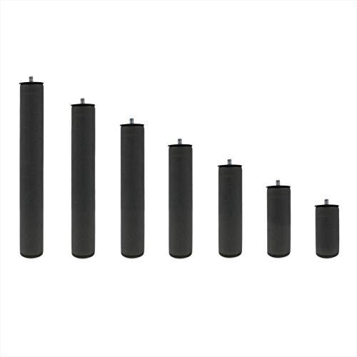 Patas Metálicas Redondas - Rosca de Metrica 10 (1 cms) - Packs de 4 uds de 15 cms
