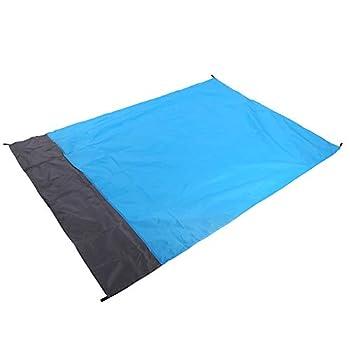 LSAR Tapis de Plage Pliable imperméable, Couverture de Plage Anti-Sable sans Sable, avec 4 piquets au Sol pour la Plage, Le Camping en Plein air, la randonnée