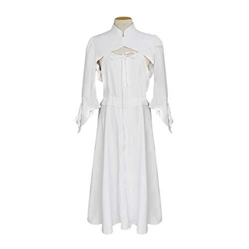 YKJ Anime Cosplay Halloween Dame Süßes Kostüm Weißes Kleid,White-L