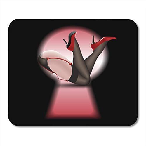 Gaming Mouse Pad Fetisch Pin Up Frauen S Beine in Strümpfen und Schuhen Dekor Büro rutschfeste Gummi Backing Mousepad Mouse Mat