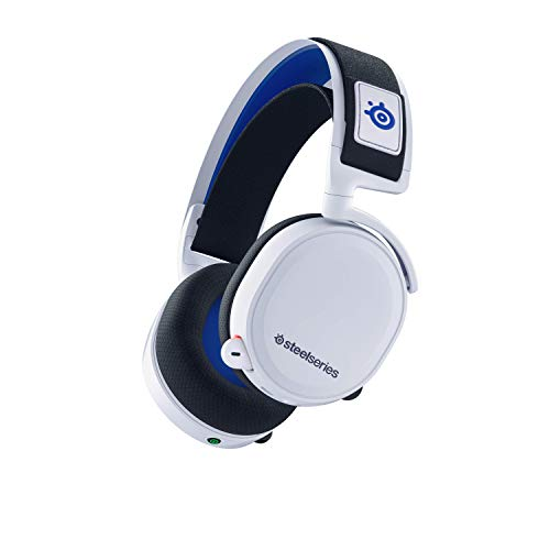 SteelSeries Arctis 7P Wireless - Auriculares Inalámbricos Para Gaming A 2,4 GHz Sin Pérdidas - Para PlayStation 5 y PlayStation 4 - Blanco