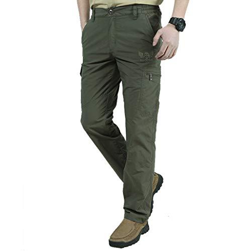 Routinfly Freizeithose für Herren,Trainingshose,Leichte Hose,Seitentaschen, Freien schnell trocknende atmungsaktive Sport Hosen M-4XL