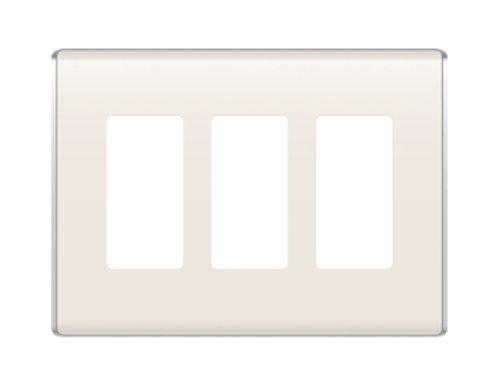 OnQ/Legrand WP5003LA - Placca da parete 3Gang, colore: Mandorla chiaro