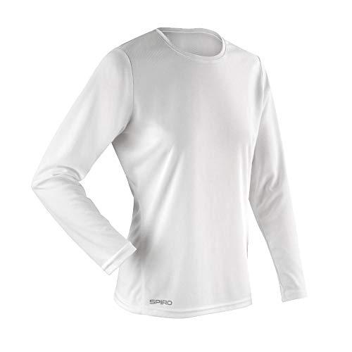 Spiro Quick Dry Performance Short Sleeve T-Shirt Femme, Blanc, m