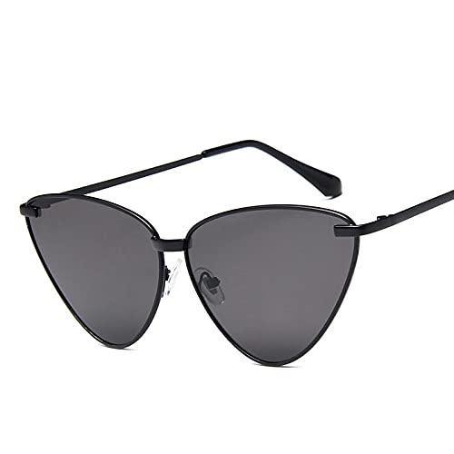 Gafas de Sol Sunglasses Ocean Cat Eye Gafas De Sol Mujer Diseñador Color Caramelo Vintage Triángulo Gafas De Sol Gafas Al Aire Libre BlackgrayAnti-UV