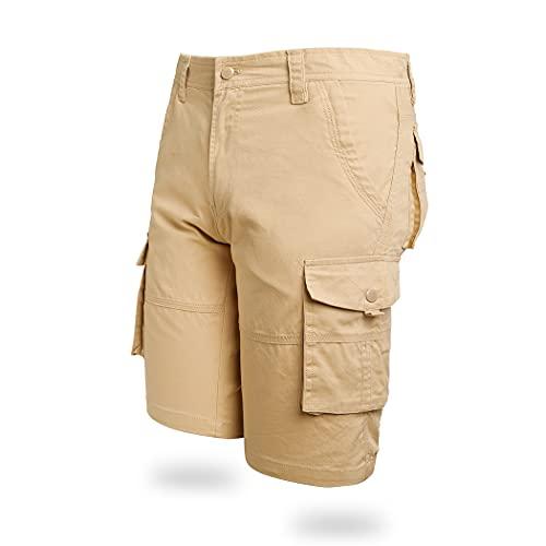 Pantalones cortos de carga para hombre, de algodón, de sarga chino, de verano, de combate, para golf, senderismo, escalada