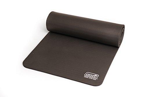 SISSEL Unisex– Erwachsene Gymnastikmatte 1.0, Grau, 180 x 60 x 1 cm