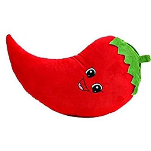 Goodquan Mooie Pluche Gevulde Enorme Rode Peper Groenten Slaapbank Bed Decoratieve Gooi Kussen Speelgoed