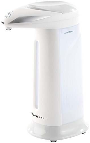 PEARL Seifenspender Batterie: Automatischer Seifenspender mit Bewegungssensor grau (Sensor Seifenspender)
