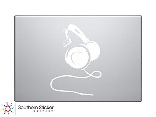 Vinyl-Autoaufkleber mit Kopfhörer-Symbol, Silhouette, Tastatur, Track-Pad, Laptop, iPad, MacBook, Fenster, LKW, Motorrad