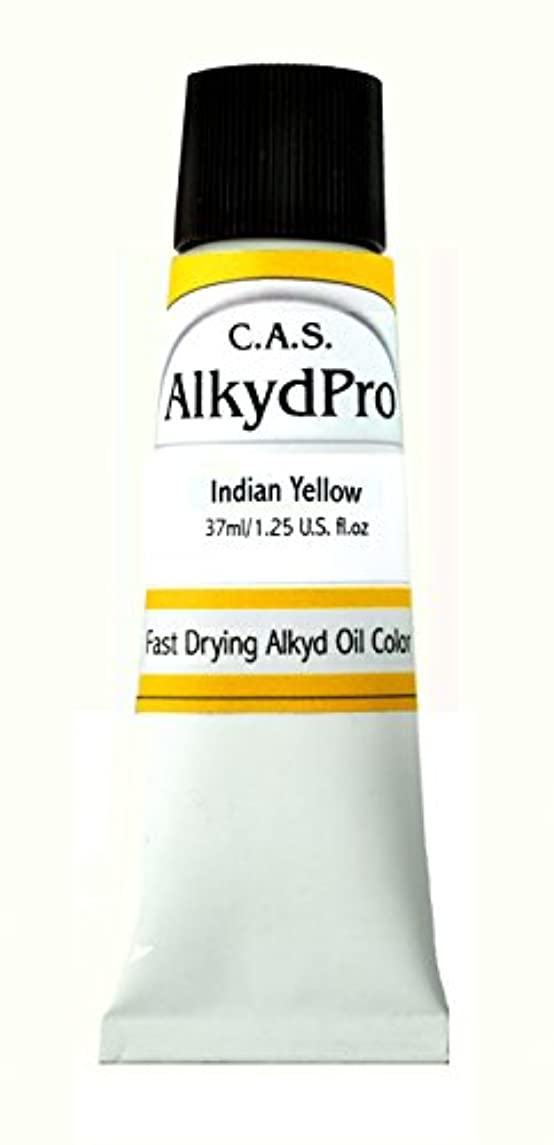 C.A.S. Paints AlkydPro Fast-Drying Oil Color Paint Tube, 37ml, Indian Yellow