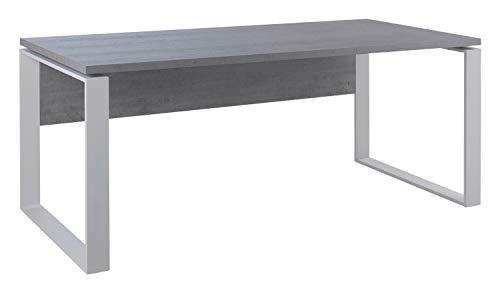 Schreibtisch, grau, weiß, BxHxT: ca. 170x75x80 cm