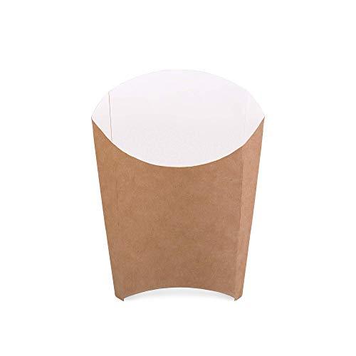 Confezione da 50 scatole per patatine fritte in cartone kraft, misura M, contenitore per alimenti...
