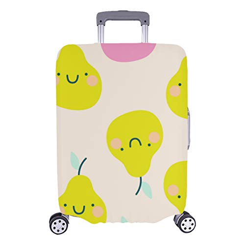 Luggage Cover Set Colorful Pear Delicious Fruits Durable Washable Protecor Cover Fits 28.5 X 20.5 Inch Best Luggage Cover Luggage Cover For Women Cover For Baggage