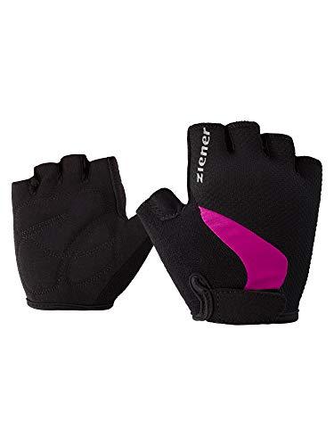 Ziener Niños crido Junior Bike Glove Guantes, Primavera/Verano, Infantil, Color Fucsia, tamaño Small