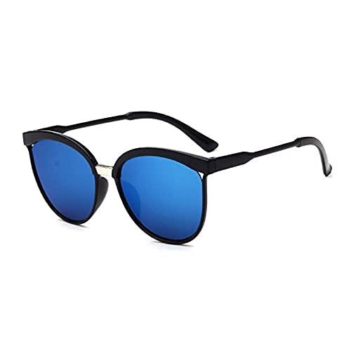 Gafas de sol para mujer, unisex, de metal, multicolor, protección UV400, para deportes al aire libre, golf, ciclismo, pesca, senderismo (azul, talla única)