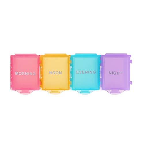 YUMEIGE Caja de almacenamiento de cosméticos Caja pequeña de píldoras Smart Electronic Pill Box, 7 compartimentos para una semana de alarma cronometrada, recordatorio de medicación temporizada portáti