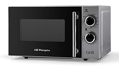 Orbegozo MIG 2550 - Microondas con grill, 20 litros de capacidad, 5 niveles de potencia y 3 funciones combinadas grill-microondas, potencia 700 W microondas y 900 W grill