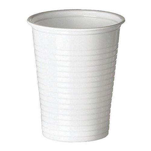 100Bicchieri in plastica bianchi 20cl