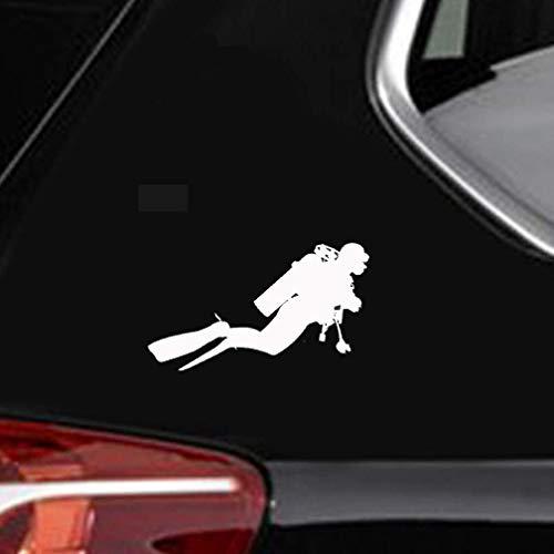 A Auto Aufkleber 18,3 cm x 10,5 cm Mode Tauchen Auto Aufkleber s Persönlichkeit Zubehör für Auto Laptop Fenster Aufkleber