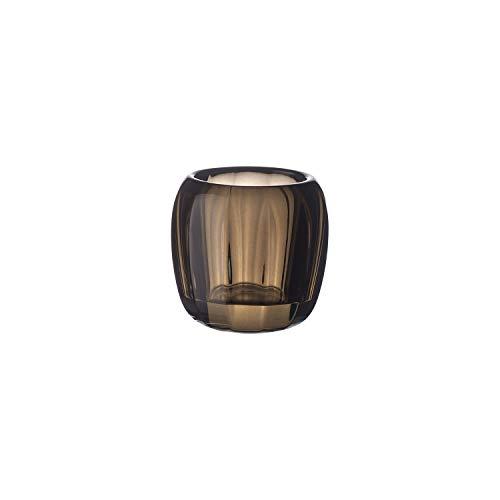 Villeroy & Boch Coloured DeLight Kleiner Teelichthalter Natural Cotton, 7 cm, Kristallglas, Klar/Braun