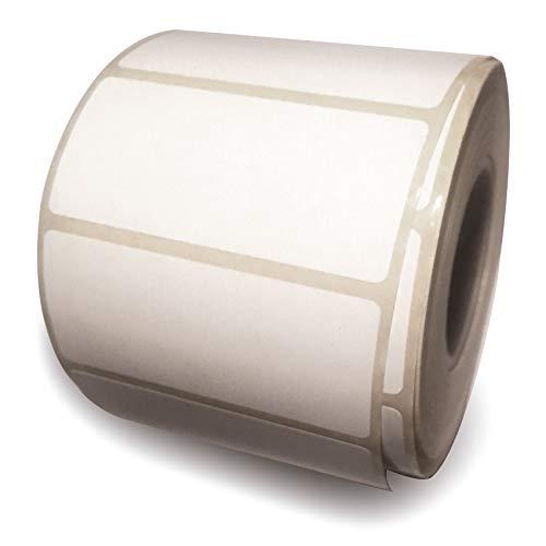 BT-Label 1000 Universal-Aufkleber auf Rolle 6 x 2,8 cm, Tiefkühletiketten, selbstklebende Papier Haushalts Etiketten zum Beschriften, Klebeetiketten permanent'stark haftend' perforiert weiß
