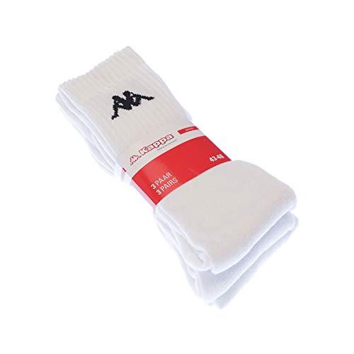 Kappa Socken Wadenhöhe – 3 Stück – Frotteesohle – dick – Baumwolle Gr. 43/46, weiß; Größe 43-46