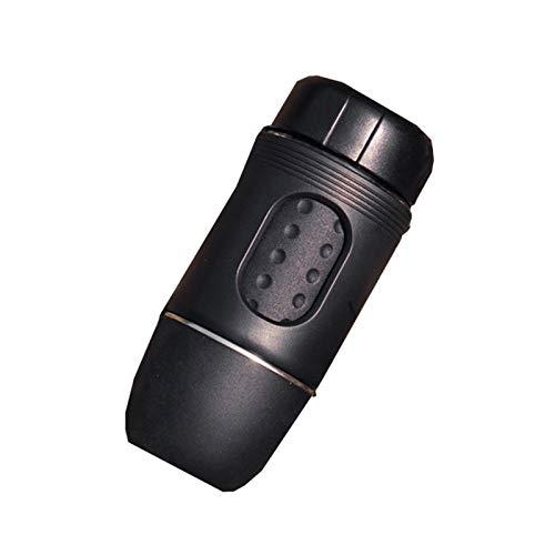 Przenośny mini ręczny ekspres do kawy/nadaje się do kapsułki i kawy w proszku / 15-20 bar ciśnienie / łatwy w użyciu / idealny na kemping, podróż i do biura (czarny)