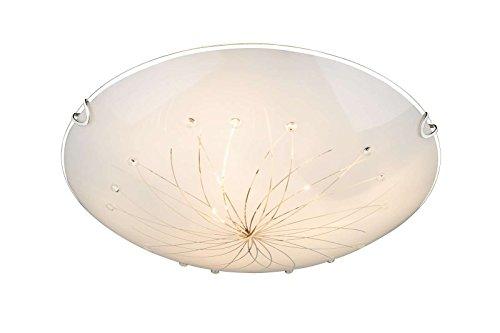 Deckenlampe 1 flammig Flurlampe Küchenlampe Glas (Deckenlicht, Deckenleuchte, Wohnzimmerlampe, Schlafzimmerlampe, Rund, 40 cm)