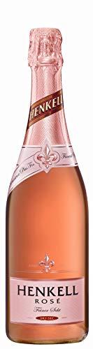 Henkell Rosé Sekt, Trocken, 12% Alkohol (1 x 0,75 l Flaschen) – Cuvée ausgesuchter roter Rebsorten hergestellt nach der Méthode Charmat