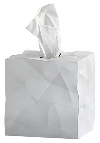 Essey Kosmetiktücher-Box Wipy Cube I, quadratischer Taschentuchspender, Design Taschentuchbox, weiß