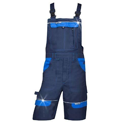3Kamido Herren Shorts kurzen Arbeitshosen, 100% Baumwolle, Arbeitsshorts Professionell - Sehr Stabile, Strapazierfähige Shorts, Arbeitshose Gartenhose, Bundhose, Gartenshorts (46, Blau)
