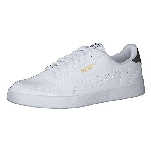 PUMA Unisex-Sneaker Shuffle Perf, Weiß - Puma Weiß Puma Schwarz Puma Team Gold - Größe: 42.5 EU