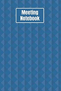 Meeting Notebook: Business Organizer Notebook Record Log Book With Action Items & Notes Secretary Logbook (100 Pages 6 x 9 )