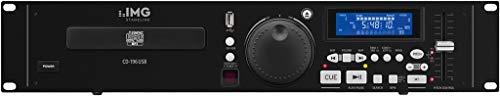 IMG STAGELINE CD-196USB, professionele DJ-CD- en mp3-speler met USB 2.0-interface, CD-speler met anti-shock systeem, MP3-speler met multi-partition ondersteuning, DJ MP3-speler in zwart