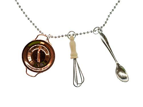 Miniblings Conjunto de Collar de Cadena 3 de cocción 80cm Cocina crisol...