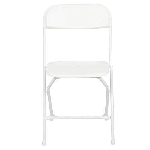 Flash Furniture HERCULES White Plastic Folding Chair
