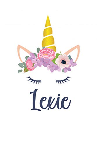 Lexie: Personalized Name Lined Journal Diary Notebook 120 Pages, 6