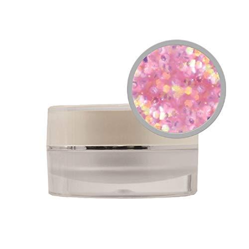 Rose Confetti coloré Poudre acrylique -10 G Proimpressions