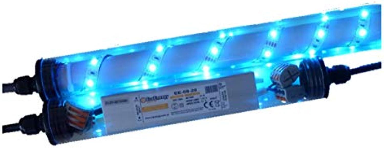 Led Beleuchtung für Steinzune Gabionen 0,85m 360° blau Beleuchtung von Steinmauern und Sichtschutz 230 Volt