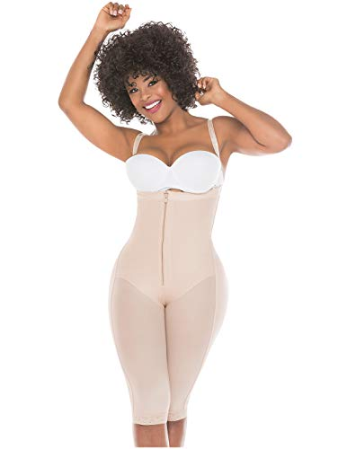 Salome 0515 Full Body Shaper Liposuction Compression Garments After Surgery Fajas Colombianas Postparto Reductoras y Moldeadoras para Mujer Beige 2XL